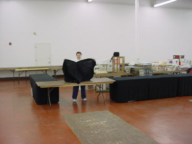 Draping the tables