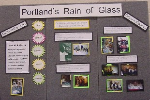 Rain of Glass Display