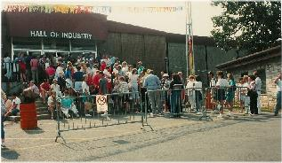 Crowd at opening of 93 Show