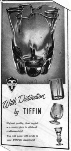 Tiffin Ad 1949
